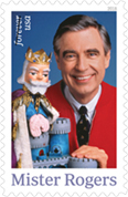 The 2018 Fred Rogers tribute stamp.