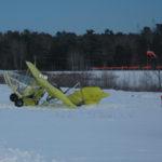 Small Aircraft Slides Off Runway at Wiscasset Municipal Airport