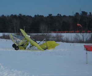 Small Aircraft Slides Off Runway at Wiscasset Municipal Airport