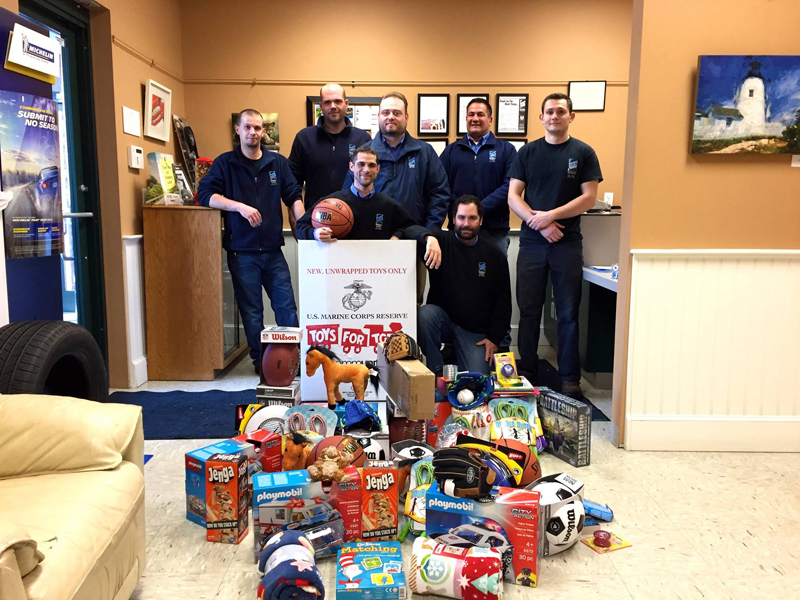 The team at Atlantic Motorcar Center in Wiscasset is conducting a toy drive for needy children.
