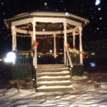 Jefferson's Vintage Bandstand Decorated for the Holidays