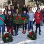 Whitefield NJHS Students Lay Wreaths
