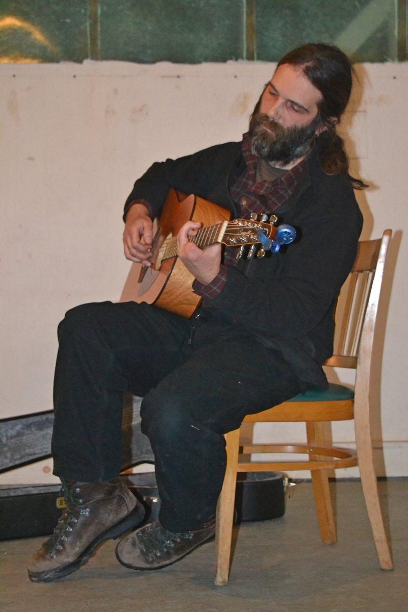 Bertie Koller performs at the Sheepscot General open mic on the evening of Friday, Jan. 19. (Christine LaPado-Breglia photo)