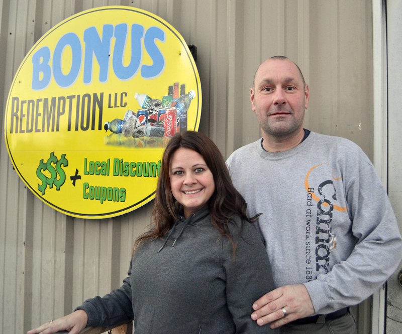 Lisa and Ken York are the new owners of Bonus Redemption LLC, which operates redemption centers in Damariscotta and Newcastle. (Maia Zewert photo)