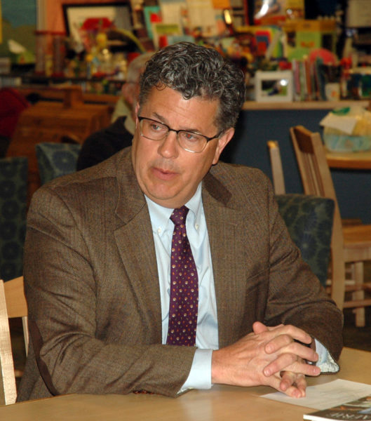 Lincoln Academy Head of School David Sturdevant meets with the Jefferson School Committee on March 6, 2017. Sturdevant will retire effective June 30. (Alexander Violo photo, LCN file)