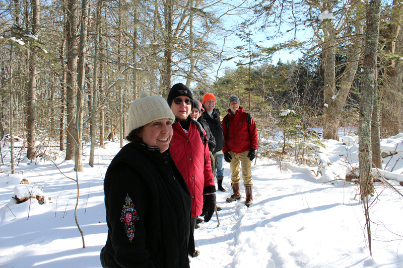 One can enjoy a winter afternoon hike at Crooked Farm Preserve with PWA and DRA on Saturday, Feb. 17 to celebrate Great Maine Outdoor Weekend. (Photo courtesy Hannah McGhee)