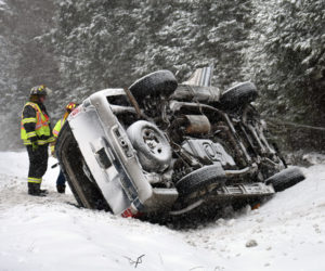 Two Extricated from SUV after Rollover in Waldoboro
