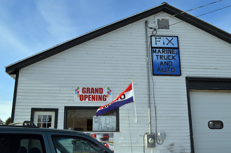 FIX Marine, Truck, and Auto is now open at 313 Bath Road in Wiscasset. (Charlotte Boynton photo)