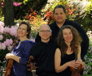 The DaPonte String Quartet: (from left) Kirsten Monke, Myles Jordan, Ferdinand Liva, and Lydia Forbes.