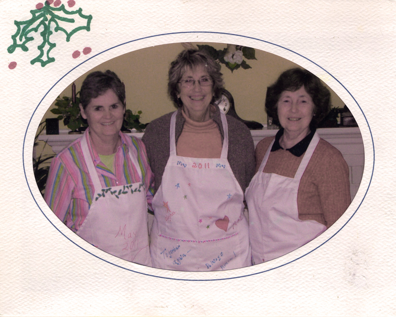 The author (center) with her sisters. (Photo courtesy Sharon Christian Aderman)