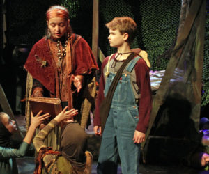 """Iris Pope as Mammy and Andrew Lyndaker as Wiley in """"Wiley and the Hairy Man."""""""