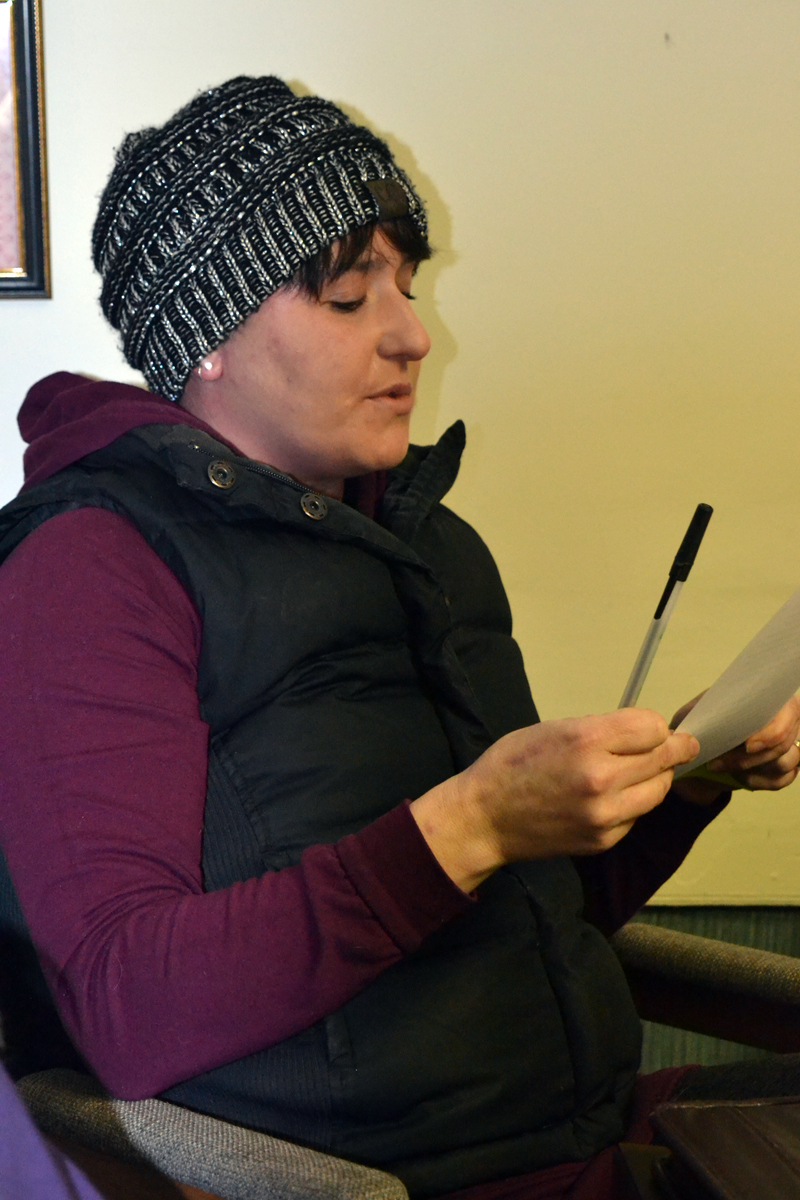 Alna Second Selectman Melissa Spinney speaks during a selectmen's meeting Wednesday, Jan. 31. (Christine LaPado-Breglia photo)