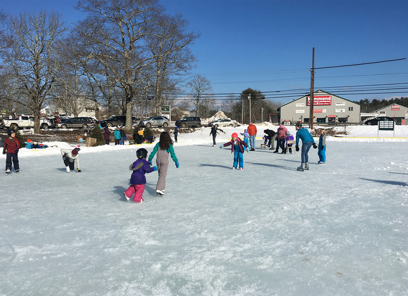 Skaters young and old enjoyed taking a turn on the ice at the Community Ice Rink at Damariscotta River Association's Winter Fest.