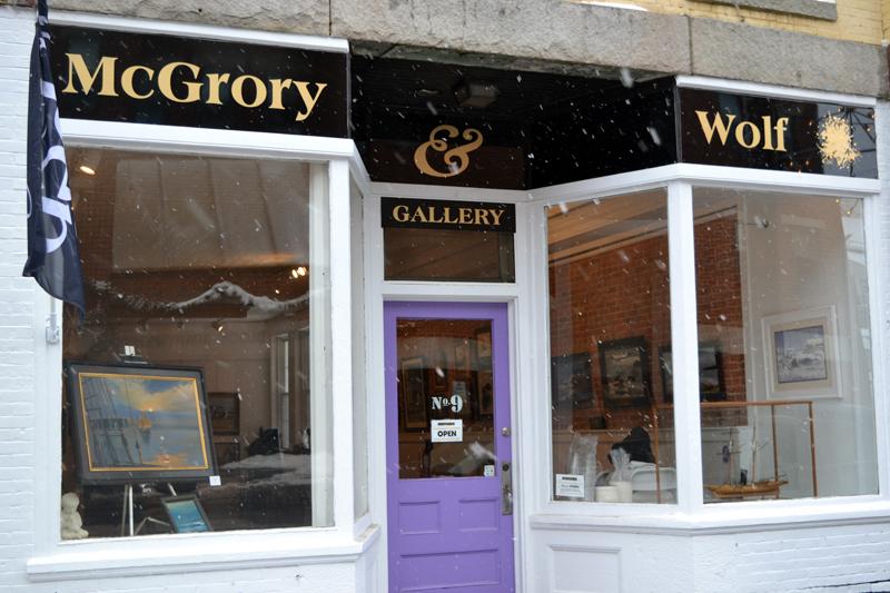 The entrance to McGrory & Wolf Gallery on Friendship Street in downtown Waldoboro. (Christine LaPado-Breglia photo)
