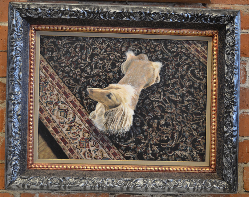 """Pearl on the Oriental,"" a painting by Polly McGrory. ""I like painting on the diagonal,"" said McGrory. (Christine LaPado-Breglia photo)"