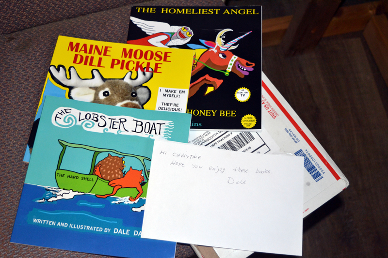 Surprises in the mail from artist and author Dale Dapkins! (Christine LaPado-Breglia photo)