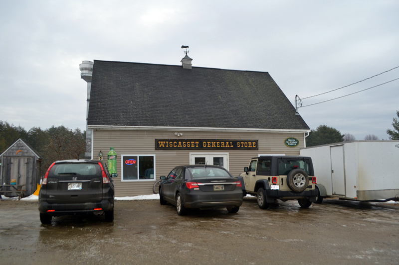 The sign for the Wiscasset General Store, on West Alna Road, will soon come down and a new sign, for the Cubbyhole Sports Pub, will go up. (Charlotte Boynton photo)