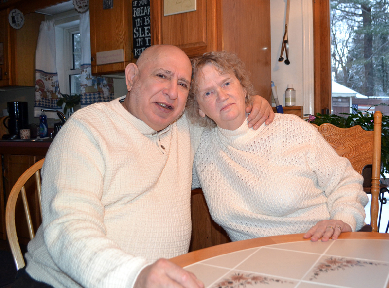 Richard and Mary Onorato share their love story at home in Wiscasset. The Onoratos celebrated their 60th wedding anniversary Jan. 28. (Charlotte Boynton photo)