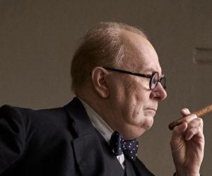 "Gary Oldman plays Winston Churchill in ""Darkest Hour."""