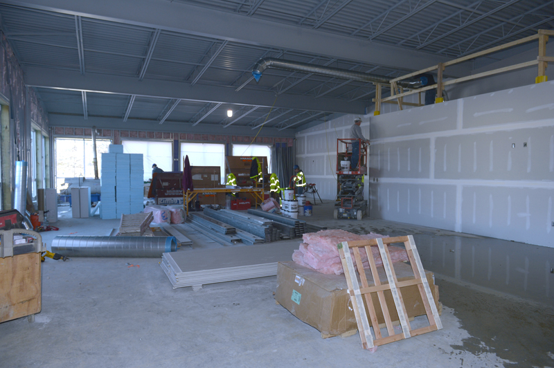 The future healthy living space at the CLC YMCA in Damariscotta. The area will contain cardio equipment, new Nautilus equipment, free weights, and a new, state-of-the-art, Synergy exercise system. (Paula Roberts photo)