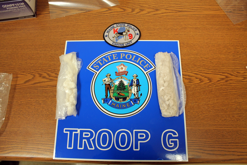 Maine State Police seized crack cocaine and heroin from a Waldoboro woman and a Waterville man during a traffic stop on the Maine Turnpike in Ogunquit on Wednesday, Jan. 31.
