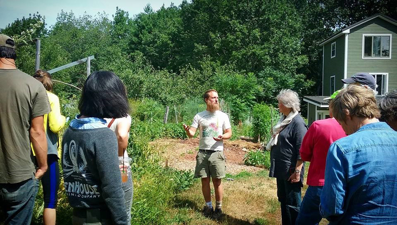 Aaron Parker holds court on edible yards.