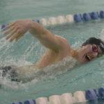 Three LA records fall in  Eagles final home swim meet
