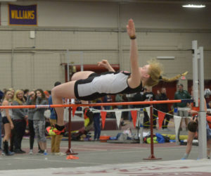 """<span class=""""entry-title-primary"""">Lady Eagle Olivia Richmond places third in State B high jump</span> <span class=""""entry-subtitle"""">Richmond clears the bar at 5 feet</span>"""