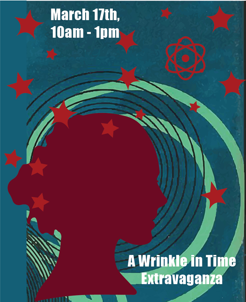 """Skidompha Library will hold its """"A Wrinkle in Time Extravaganza"""" on Saturday, March 17."""