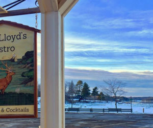 The view of the Damariscotta River from the deck of Van Lloyd's Bistro in Damariscotta.
