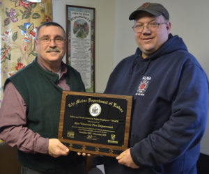 Alna Fire Department Receives Safety Award