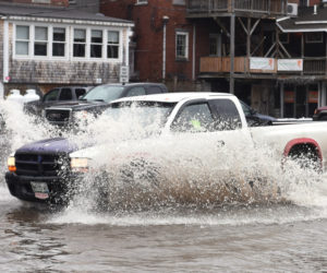 Damariscotta Parking Lot Floods for Second Time in Two Months