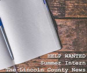 Lincoln County News Seeks Summer Intern