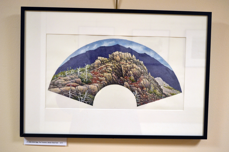 """Little Knife Edge, The Travelers, Baxter State Park,"" by Alna artist Jon Luoma. (Christine LaPado-Breglia photo)"