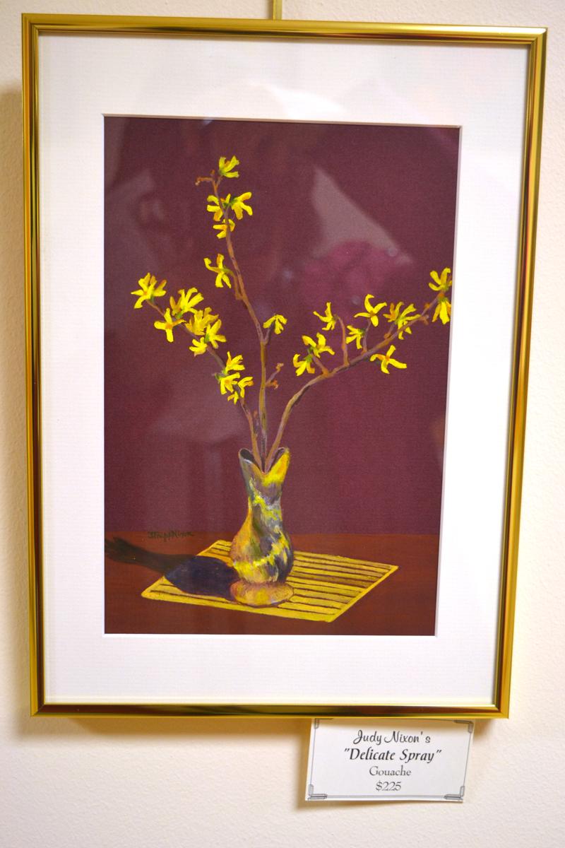"""Delicate Spray,"" a small gouache piece by Judy Nixon. (Christine LaPado-Breglia photo)"