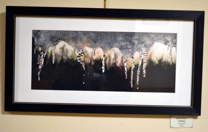 "Judy Nixon's watercolor painting ""Melting."" (Christine LaPado-Breglia photo)"