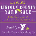 Tables Still Available at Lincoln County Yard Sale on May 5