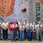 Boy Scout Troop 254, Venture Scouts Work on Climbing Badge