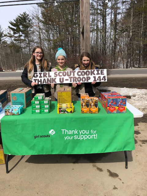 The last day of March will be the last chance to purchase Girl Scout cookies from Nobleboro Girl Scout Troop No. 144 this year.