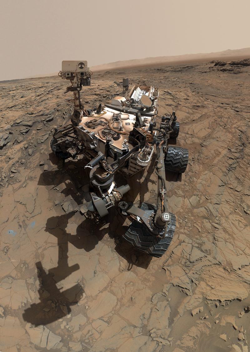 The car-sized Curiosity rover.