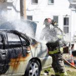 Car Catches Fire in Damariscotta