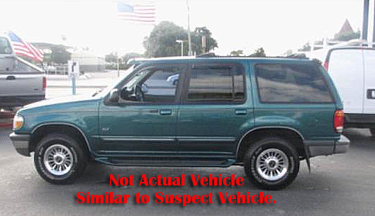 The Lincoln County Sheriff's Office is searching for a suspect in a home invasion in Nobleboro the morning of Monday, April 16. The male suspect was last seen fleeing the scene in a green four-door Ford Explorer.