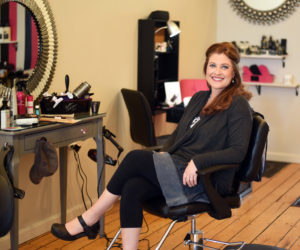 Nicole Fordham sits in her new hair salon and spa, Belle Jolie, in Newcastle on Tuesday, April 3. (Jessica Picard photo)