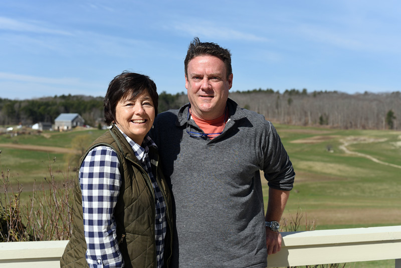 Kim McLellan and Mark Bartle at their home in Newcastle on Tuesday, April 24. They hope to open a restaurant in South Bristol in July. (Jessica Picard photo)