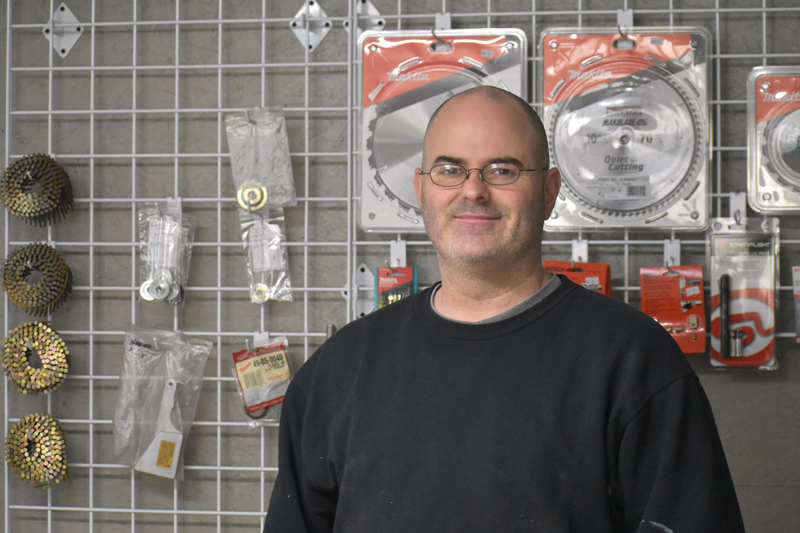 Jason Rogers, of Waldoboro, poses for a photo at the current location of his business, Precision Tool Repair, in Damariscotta. Precision Tool Repair will close at the end of April, move to Waldoboro, and reopen May 5. (Alexander Violo photo)