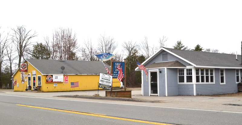 Huber's Market and Ship's Chow Hall, on Route 1 in Wiscasset, are for sale due to the owner's illness. The restaurant remains open, but the market has closed. (Charlotte Boynton photo)