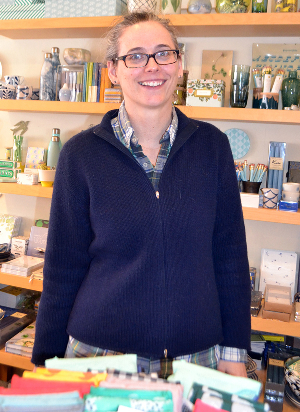 Wiscasset business owner Erika Soule supports a yes vote. (Charlotte Boynton photo)