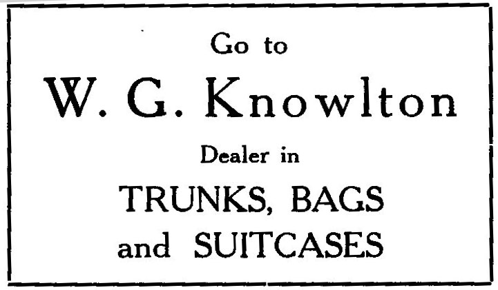 An ad in the 1922 Lincoln Academy Lincolnian. (Courtesy Marjorie and Calvin Dodge)