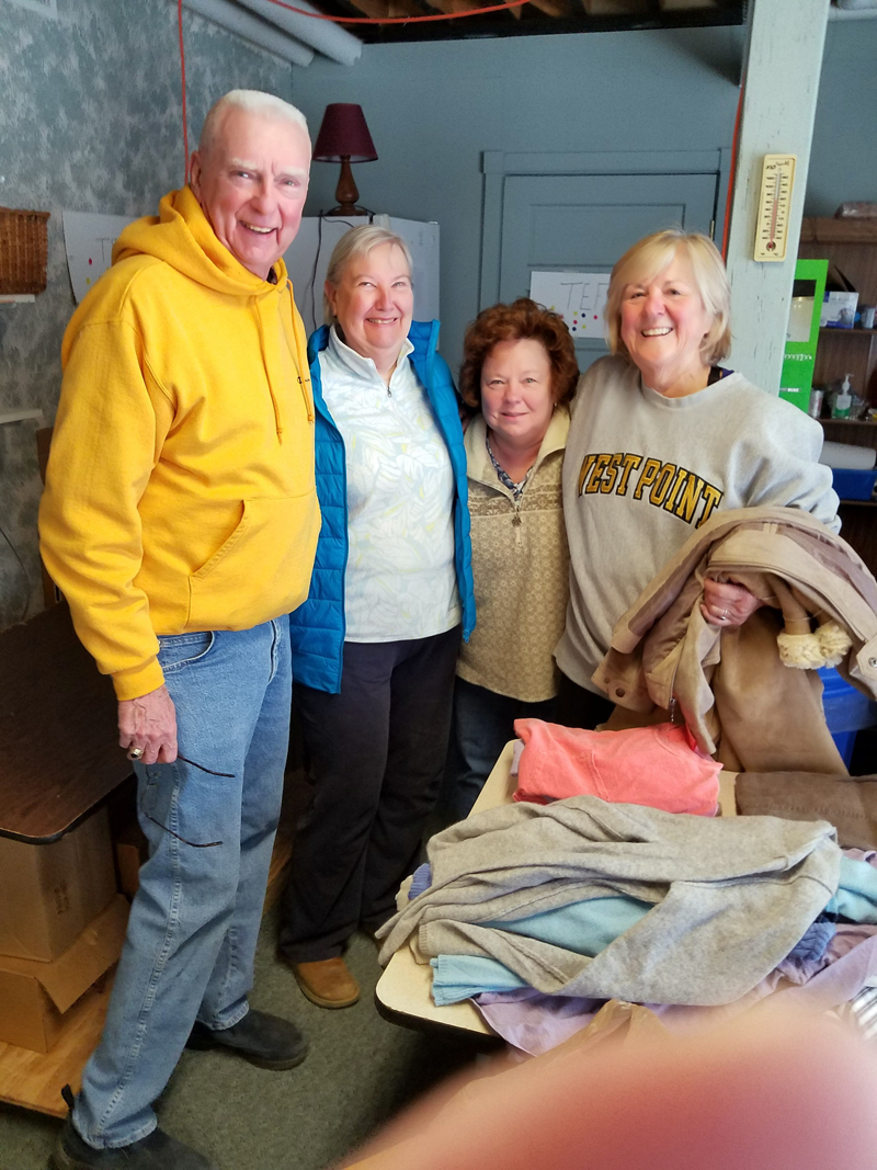 From left: Mike Cahill and Susan Lewis, both of Nobleboro, and Sandra O'Farrell and Rhonda Conway, both of Waldoboro.