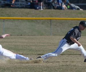 """<span class=""""entry-title-primary"""">Eagle baseball wins KVAC home opener</span> <span class=""""entry-subtitle"""">Lincoln 5 - Brunswick 2</span>"""